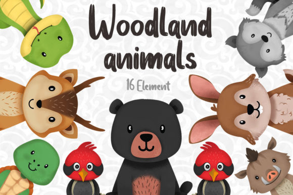 Print on Demand: Woodland Animals Clipart Set 3 Graphic Illustrations By accaliadigital - Image 1