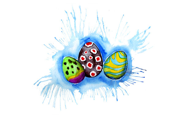 Painted Easter Eggs in Paint Splatter Art Style Easter Craft Cut File By Creative Fabrica Crafts