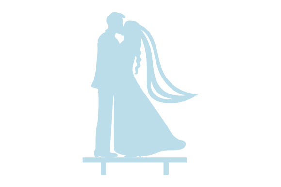 Download Free Couple Kissing Wedding Cake Topper Svg Cut File By Creative Fabrica Crafts Creative Fabrica for Cricut Explore, Silhouette and other cutting machines.