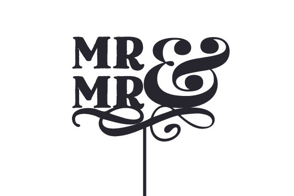 Mr & Mr Cake Topper Boda Archivo de Corte Craft Por Creative Fabrica Crafts