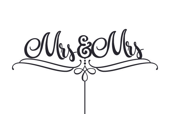 Mrs & Mrs Cake Topper Wedding Craft Cut File By Creative Fabrica Crafts - Image 1