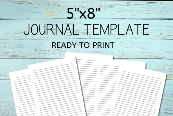 Print on Demand: Journal Template Graphic KDP Interiors By jpjournalsandbooks - Image 1