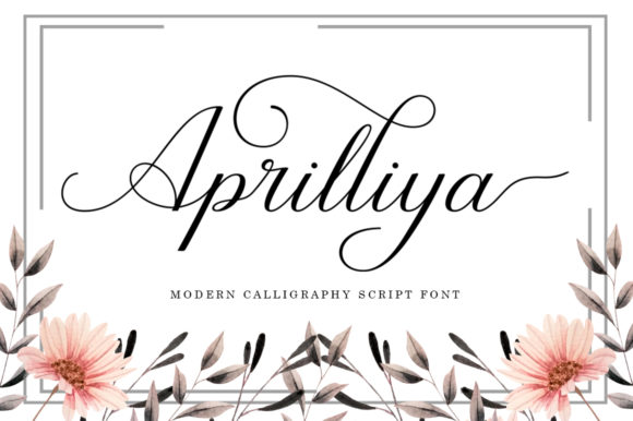 Print on Demand: Aprilliya Script & Handwritten Font By Black Studio