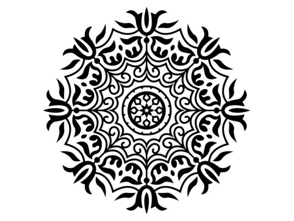Download Free Beautiful Mandala Design 161 Graphic By Ermannofficial for Cricut Explore, Silhouette and other cutting machines.