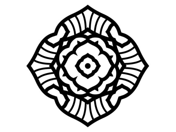 Print on Demand: Beautiful Mandala Design 174 Graphic Coloring Pages & Books Adults By ermannofficial