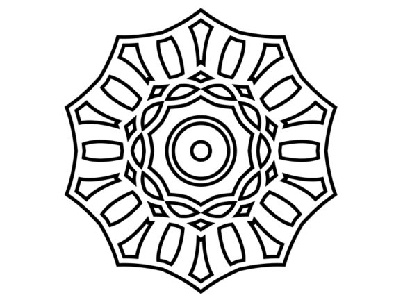 Download Free Beautiful Mandala Design 175 Graphic By Ermannofficial for Cricut Explore, Silhouette and other cutting machines.