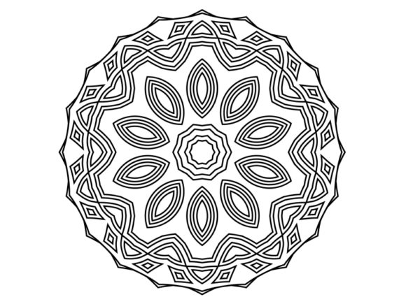 Print on Demand: Beautiful Mandala Design 176 Graphic Coloring Pages & Books Adults By ermannofficial