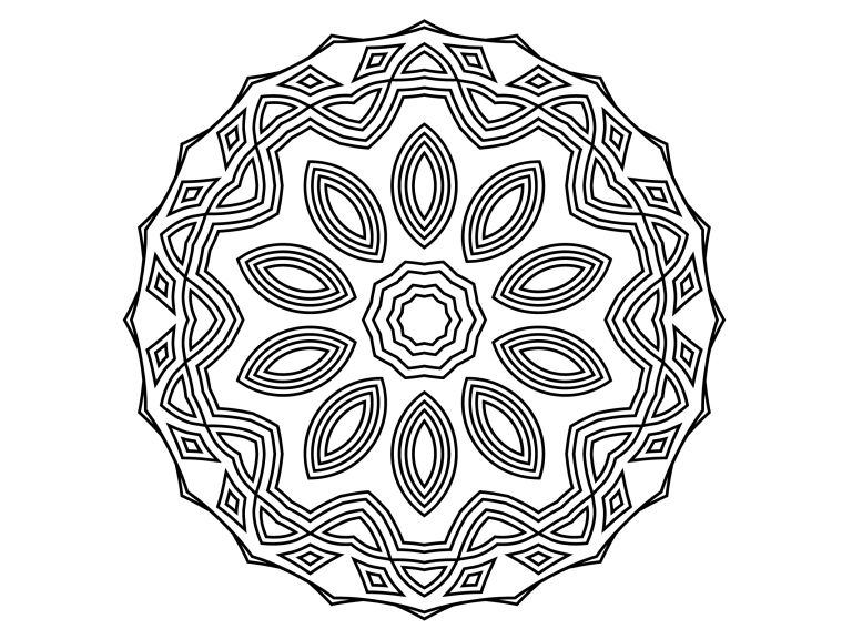 Download Free Beautiful Mandala Design 176 Graphic By Ermannofficial for Cricut Explore, Silhouette and other cutting machines.