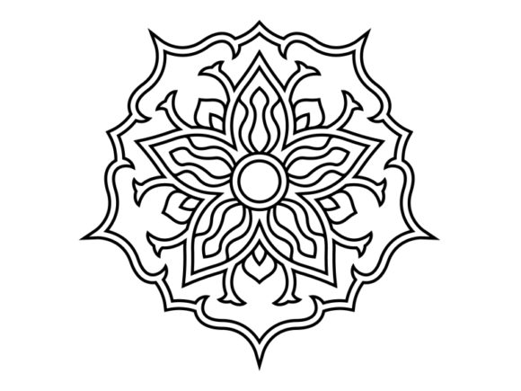 Print on Demand: Beautiful Mandala Design 187 Graphic Coloring Pages & Books Adults By ermannofficial