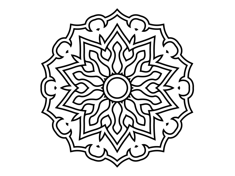 Download Free Beautiful Mandala Design 189 Graphic By Ermannofficial for Cricut Explore, Silhouette and other cutting machines.