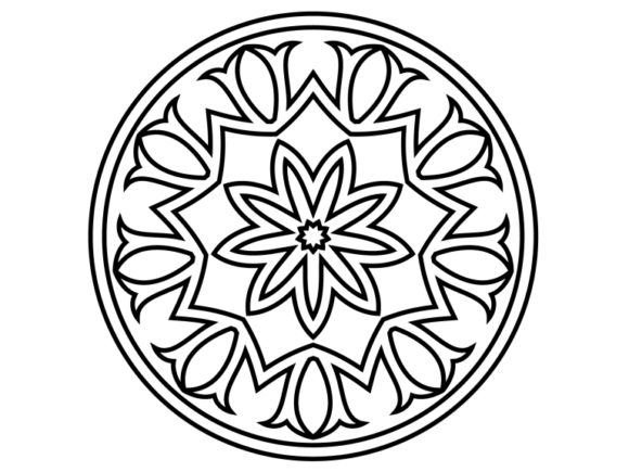 Download Free Beautiful Mandala Design 196 Graphic By Ermannofficial for Cricut Explore, Silhouette and other cutting machines.
