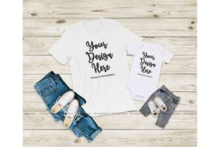 Print on Demand: Bella Canvas 3001 100B White Tee Mockup Graphic Product Mockups By Mockup Station