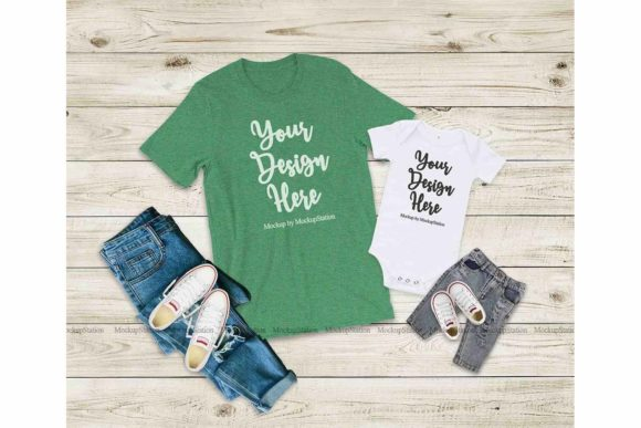 Print on Demand: Bella Canvas Family Mockup Graphic Product Mockups By Mockup Station