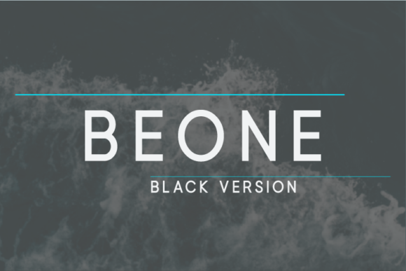 Print on Demand: Beone Black Sans Serif Font By Nan Design