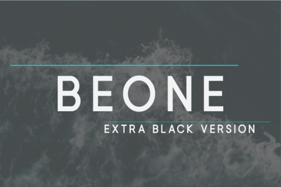Print on Demand: Beone Extra Black Sans Serif Font By Nan Design
