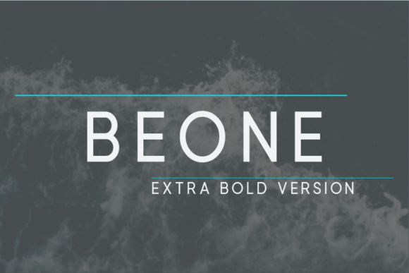 Print on Demand: Beone Extra Bold Sans Serif Font By Nan Design