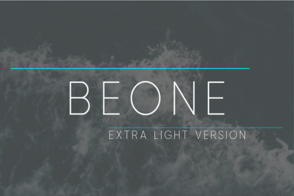 Print on Demand: Beone Extra Light Sans Serif Font By Nan Design