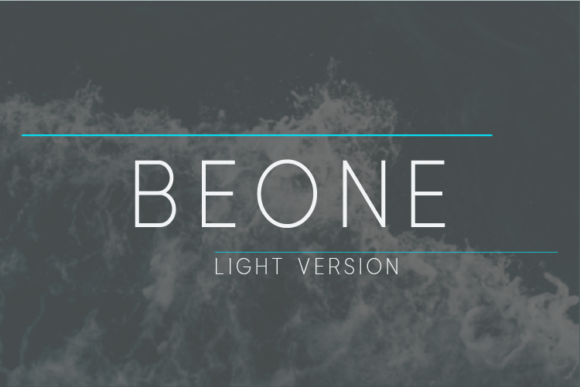 Print on Demand: Beone Light Sans Serif Font By Nan Design