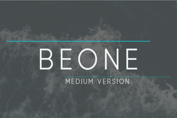 Print on Demand: Beone Medium Sans Serif Font By Nan Design