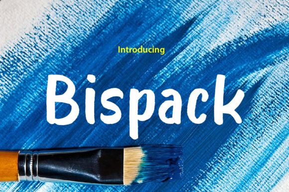 Print on Demand: Bispack Display Font By da_only_aan
