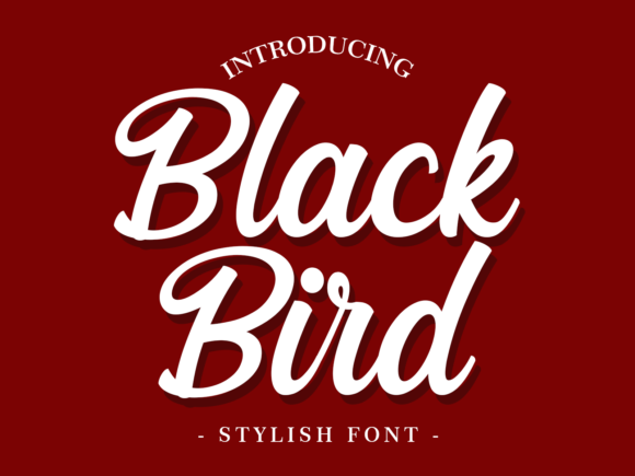 Print on Demand: Black Bird Script & Handwritten Font By fontkong