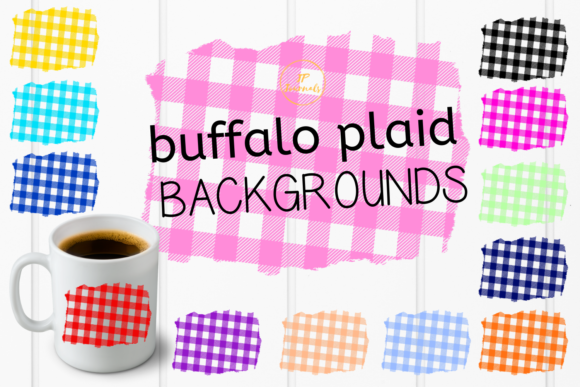 Print on Demand: Buffalo Plaid Sublimation Backgrounds Graphic Illustrations By jpjournalsandbooks