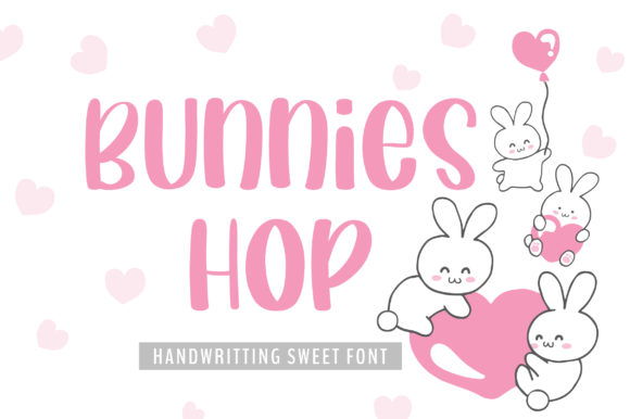 Print on Demand: Bunnies Hop Script & Handwritten Font By BitongType