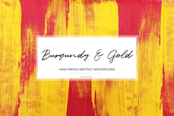 Burgundy Gold Abstract Backgrounds Graphic Backgrounds By BonaDesigns