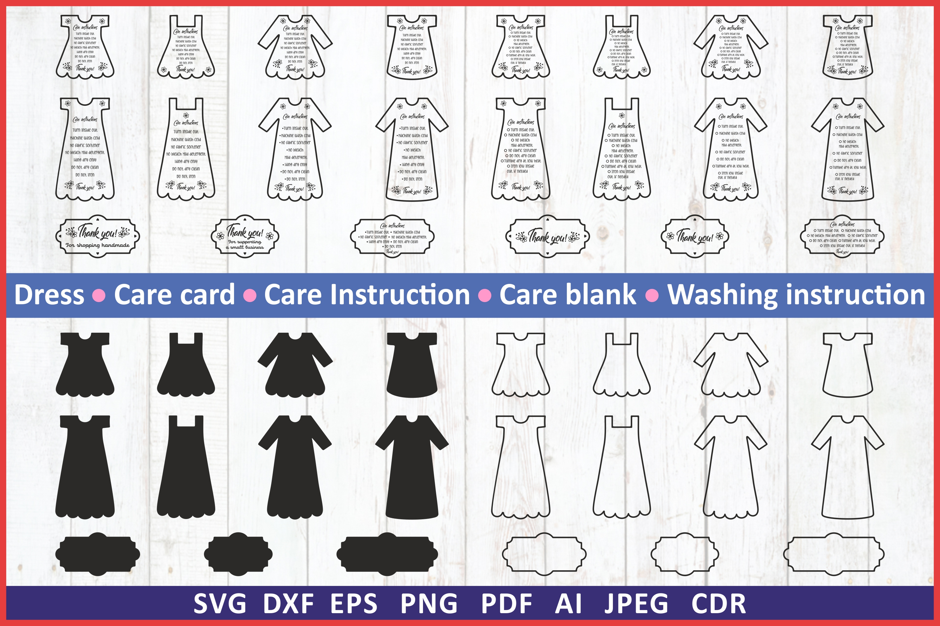 Download Free Care Instruction Graphic By Millerzoa Creative Fabrica for Cricut Explore, Silhouette and other cutting machines.