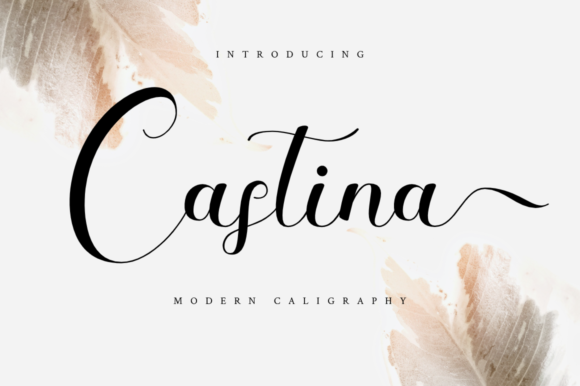 Print on Demand: Castina Script & Handwritten Font By Haffa Studio - Image 1