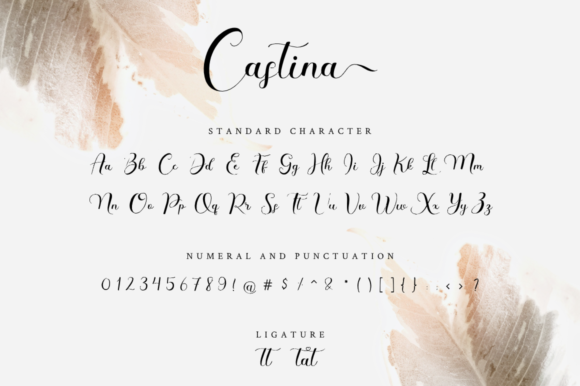 Print on Demand: Castina Script & Handwritten Font By Haffa Studio - Image 10