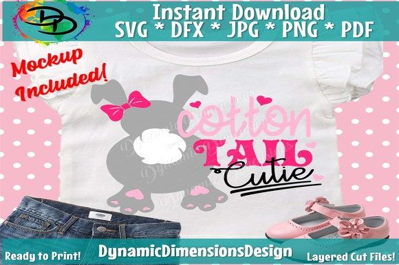 Download Free Cotton Tail Cutie Graphic By Dynamicdimensions Creative Fabrica for Cricut Explore, Silhouette and other cutting machines.