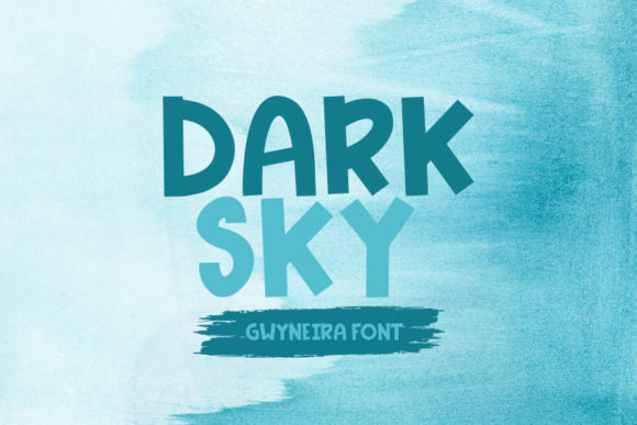 Print on Demand: Dark Sky Script & Handwritten Font By a.gwyneira
