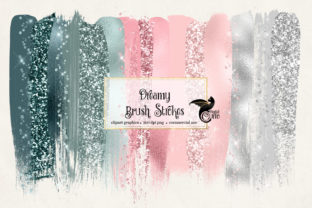 Print on Demand: Dreamy Brush Strokes Clipart Graphic Objects By Digital Curio