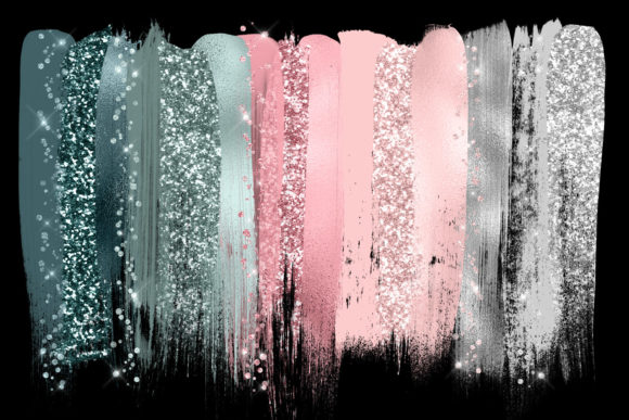 Dreamy Brush Strokes Clipart Graphic Objects By Digital Curio - Image 2