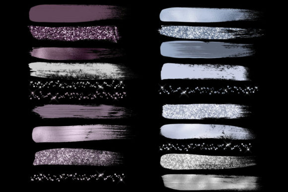 Elegant Brush Strokes Clipart Graphic Objects By Digital Curio - Image 3