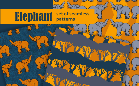 Print on Demand: Elephant Graphic Patterns By Em-Pal