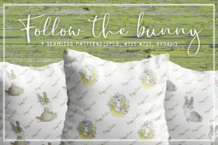 Print on Demand: Follow the Bunny Watercolor Easter Seam Graphic Patterns By Olga Belova