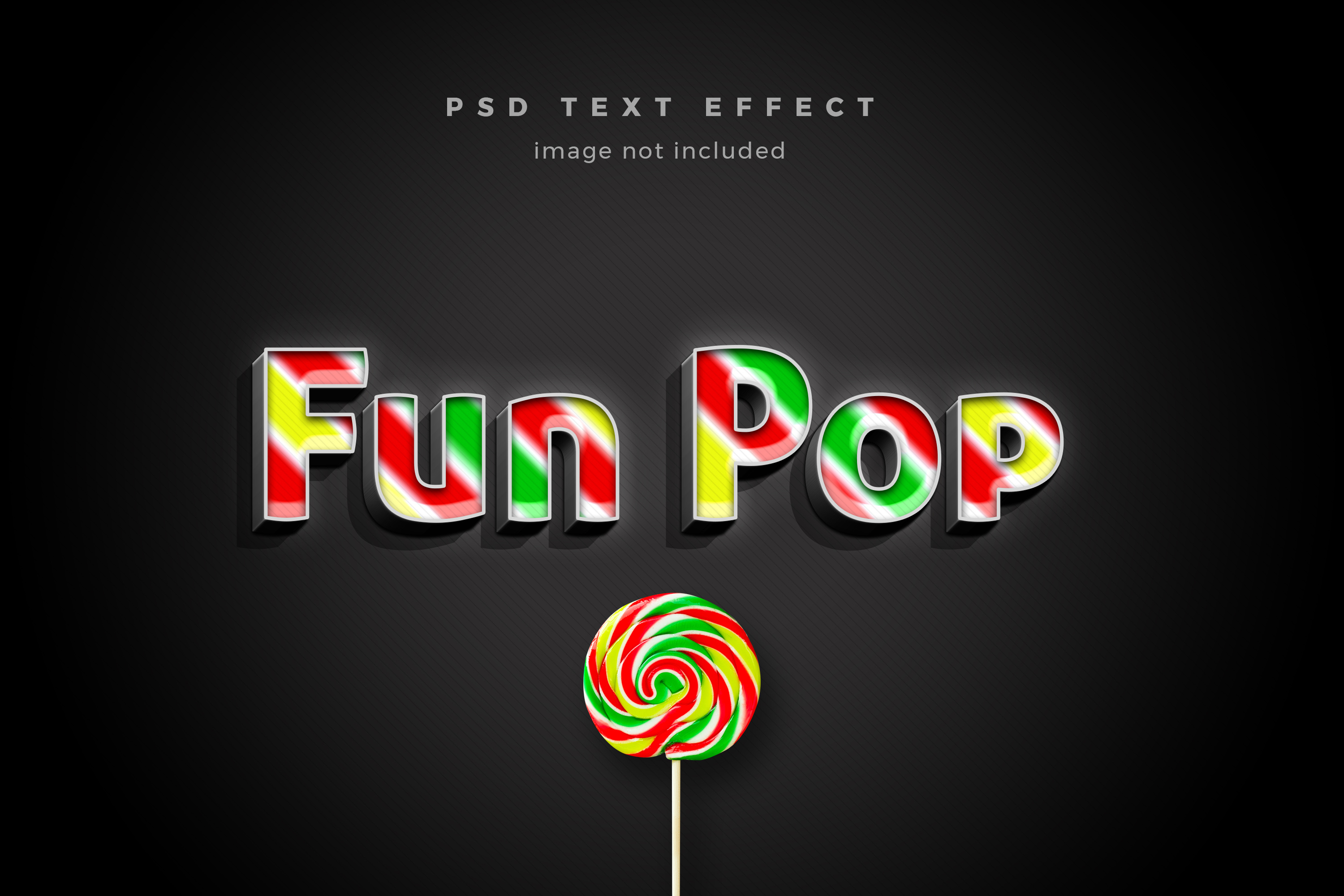 Download Free Fun Pop 3d Text Effect Template Graphic By Diqtam Creative Fabrica for Cricut Explore, Silhouette and other cutting machines.