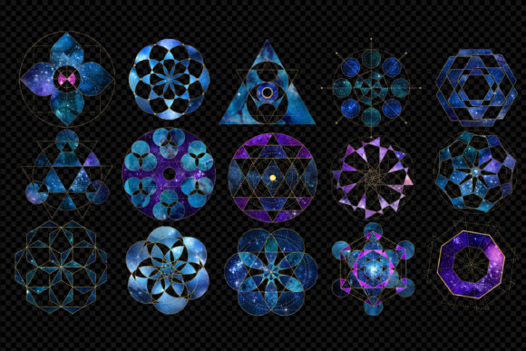 Galaxy Sacred Geometry Clipart Graphic Illustrations By Digital Curio - Image 2