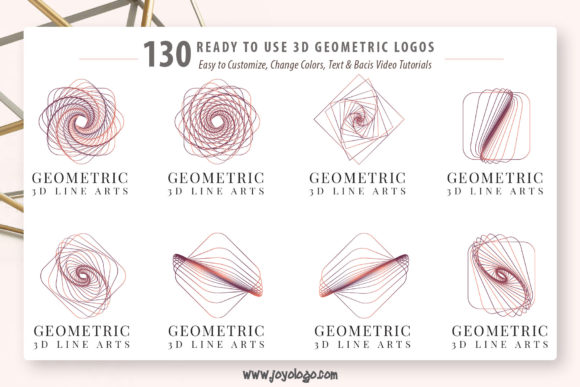 Download Free Geometric Logo Generator 3d Line Art Graphic By Joyologo for Cricut Explore, Silhouette and other cutting machines.