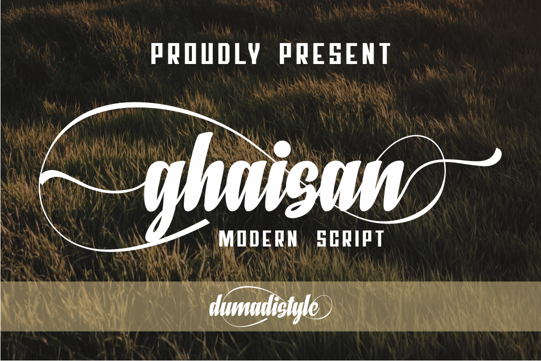Download Free Ghaisan Font By Dumadi Creative Fabrica for Cricut Explore, Silhouette and other cutting machines.