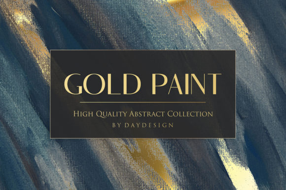 Print on Demand: Gold Paint Backgrounds Graphic Textures By DAYDESIGN