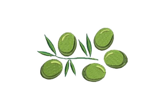 Green Olives Food & Dining Embroidery Design By Embroidery Designs