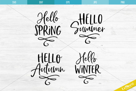 Hello Seasons Cutting File Graphic Crafts By Lemonade Design Co.