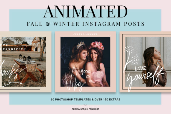 Print on Demand: Holiday Instagram Posts Graphic Websites By SilverStag