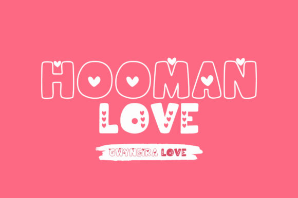 Print on Demand: Hooman Love Decorative Font By a.gwyneira