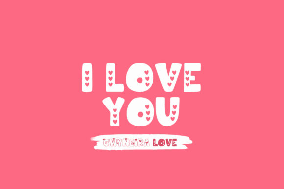 Print on Demand: Hooman Love Decorative Font By a.gwyneira - Image 3