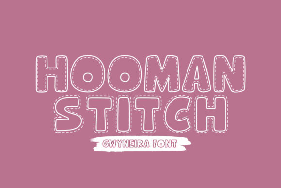 Print on Demand: Hooman Stitch Decorative Font By a.gwyneira