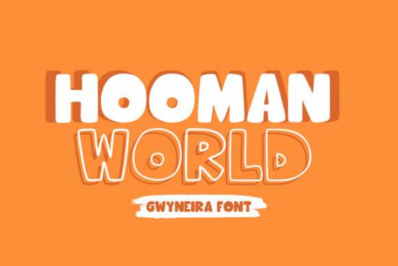 Print on Demand: Hooman World Display Font By a.gwyneira